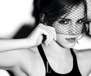 black and white, Elle, and girl image