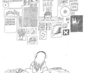drawing, indie, and music image