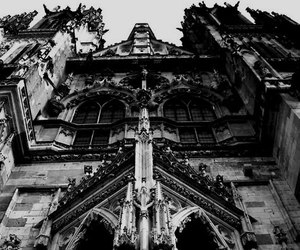 gothic, black and white, and church image