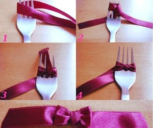 diy, bow, and fork image