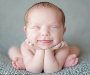 baby, happy, and smile image