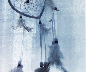 blue, dream catcher, and heart image