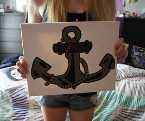 anchor, cool, and drawing image