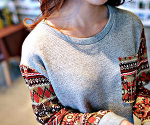 fashion, sweater, and aztec image