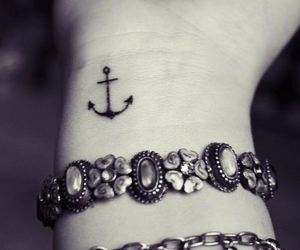 tattoo, anchor, and bracelet image