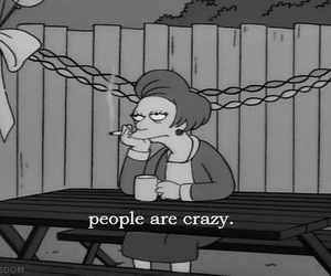 crazy, people, and simpsons image