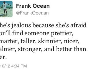 quote, jealous, and frank ocean image