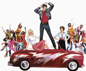 grease, car, and Sandy image