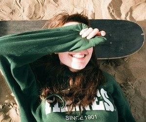 girl, skate, and smile image