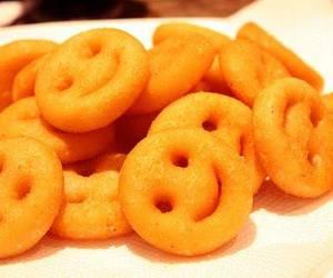 smile, food, and potato image
