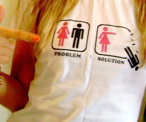 girl, problem, and solution image