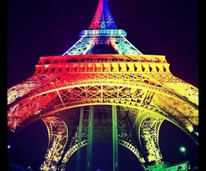 paris, colors, and eiffel tower image