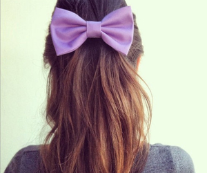 bow, hair, and style image