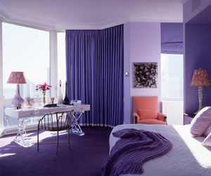 purple and bedroom image