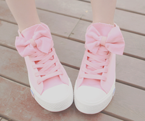pink, shoes, and tennis image