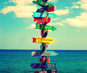 beach, love, and directions image
