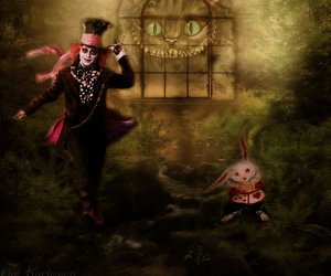 alice in wonderland and johnny deep image