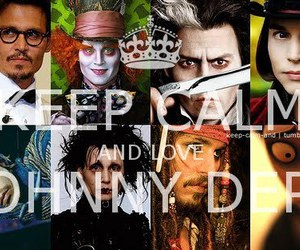 johnny depp, keep calm, and love image