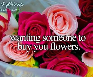 flowers, someone, and just girly things image
