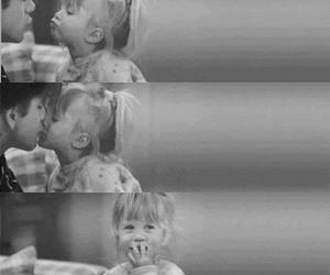 cute, kiss, and black and white image
