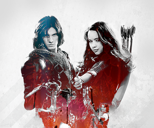 anna popplewell, ben barnes, and susan pevensie image