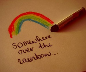 rainbow, quote, and text image