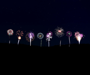 fireworks, night, and photography image