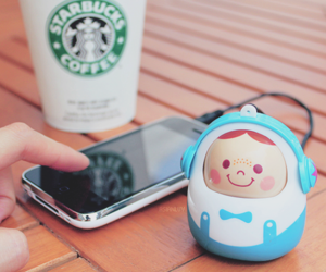 cute, iphone, and starbucks image