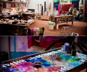 room, art, and colorful image