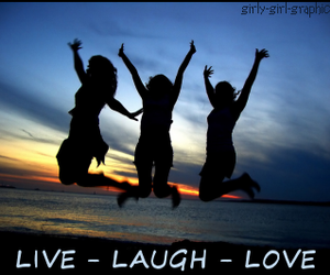 laugh, live, and friends image