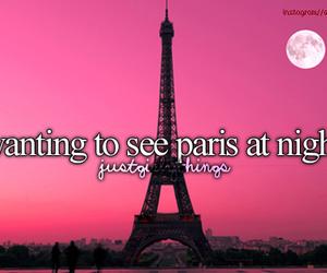 paris, night, and quote image