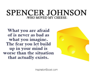 fear quotes, spencer johnson, and spencer johnson quotes image