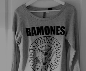 ramones, black and white, and rock image