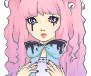 pastel goth, kawaii, and pastel image