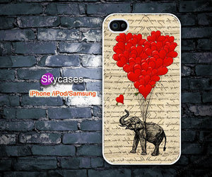 lovely elephant, color cell phone shell, and drop silicone shell image