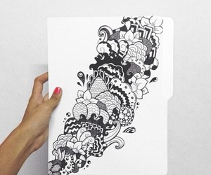 drawing and white image