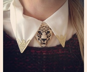 fashion, leopard, and necklace image