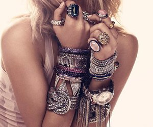 bracelet, rings, and jewelry image