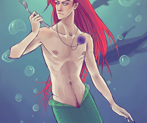 art, cool, and the little mermaid image