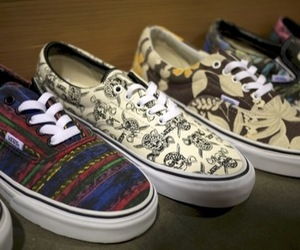 vans, colors, and shoes image