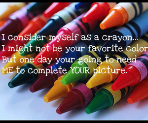 colorful, crayons, and quote image
