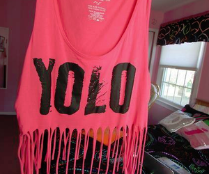 yolo, pink, and cool image