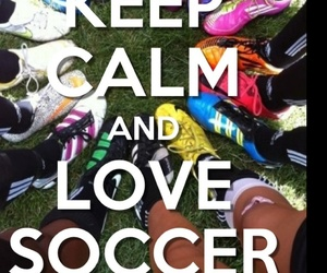 cleats, keep calm, and soccer image
