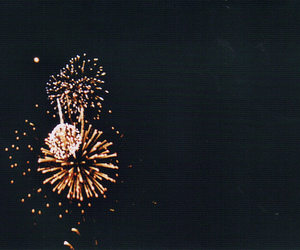 vintage and fireworks image