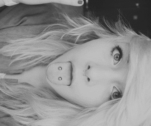 black and white, Emo girls, and girl image