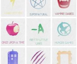 the vampire diaries, pll, and hunger games image