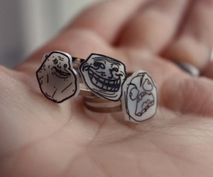 meme, forever alone, and rings image