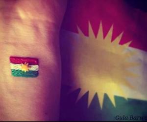 flag, kurdish, and kurdistan image