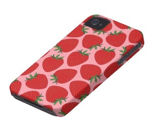 cases, girly, and strawberry image