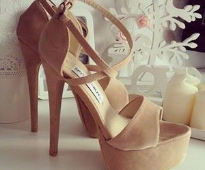 beige, high heels, and fashion image